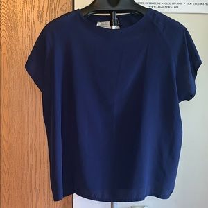 Silky T-shirt blouse